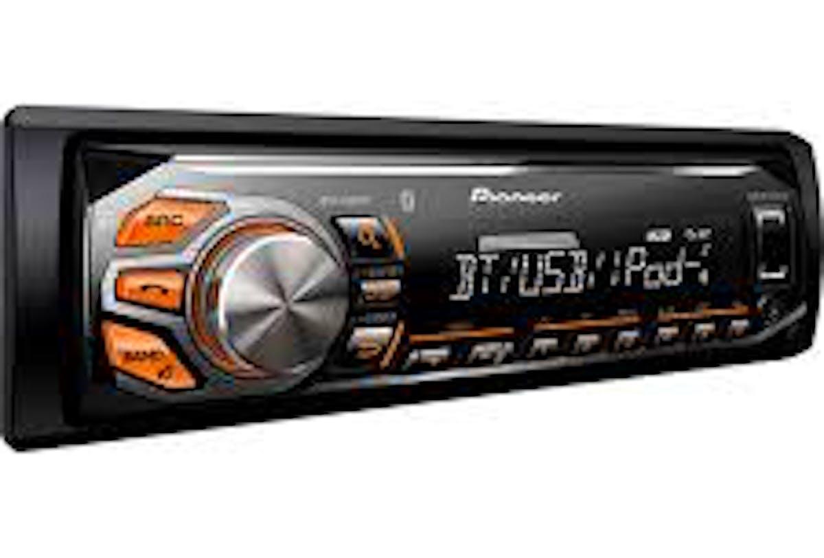 Som Pioneer + chicote 16 vias + chicote Antena + 04 falantes