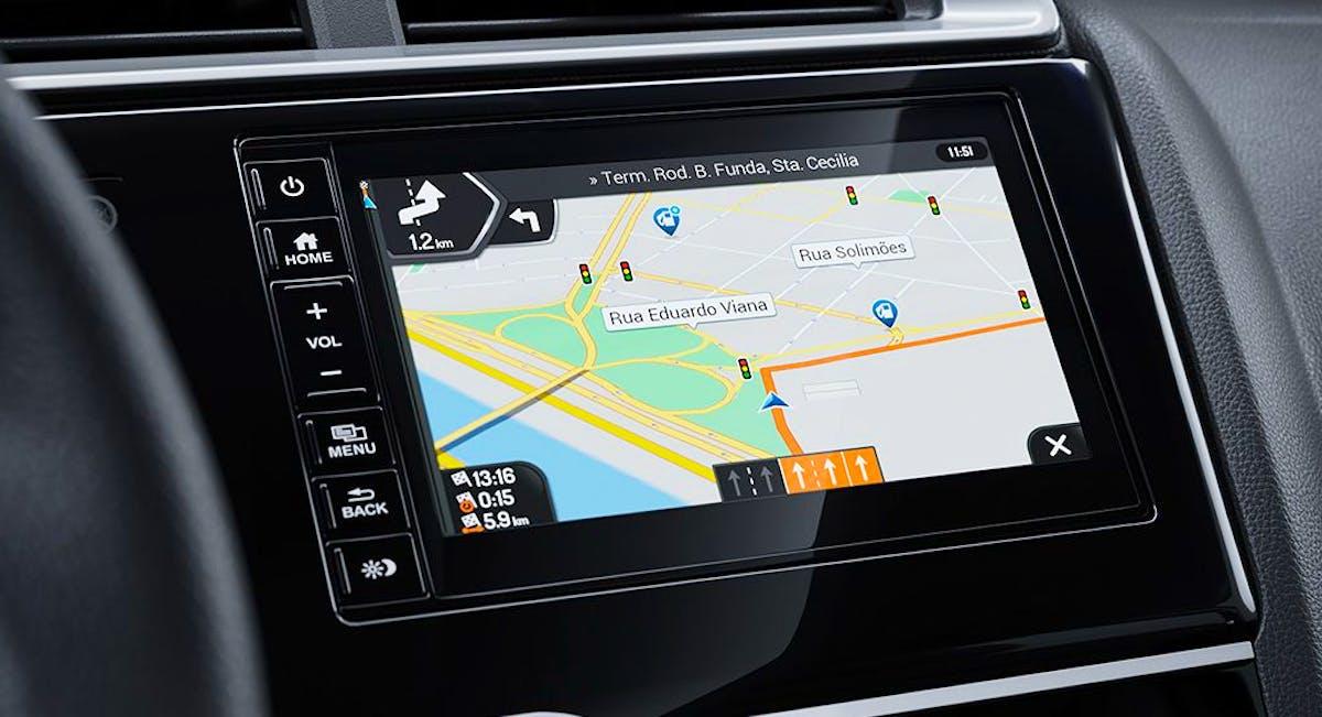 Navegador GPS com mapa multivisão