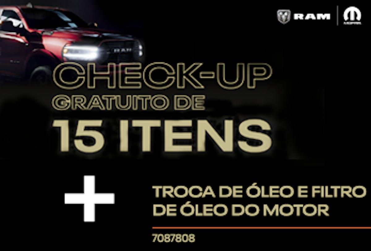 Troca de Óleo e Filtro de Óleo do Motor + Check-up de 15 Itens