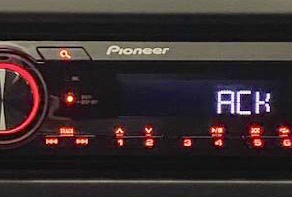 Rádio Pioneer + Falante + Antena