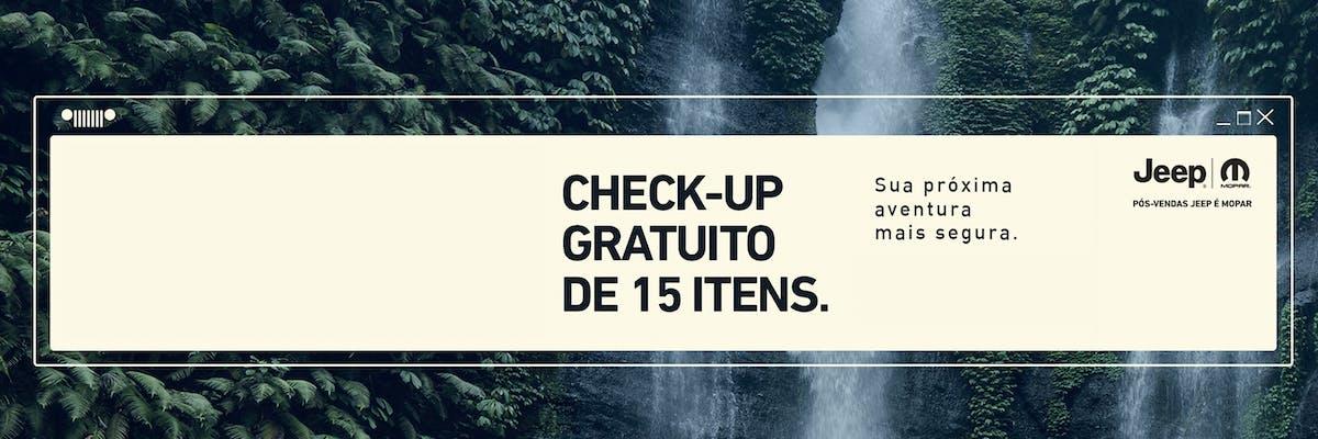 Check-up gratuito de 15 itens.